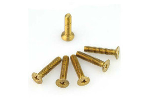 Brass Slotted Grub Screws