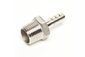 Stainless steel hose barbs